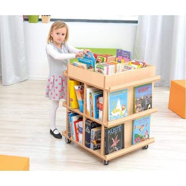 Kindergarten-Flexi Bücherregal auf Rollen 2