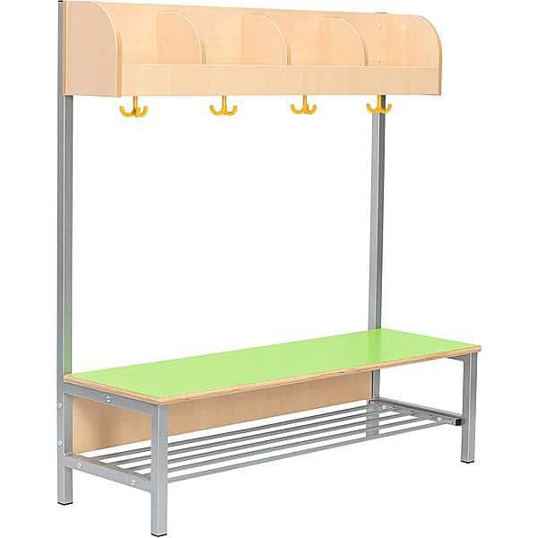 Kindergarten-Garderobe Flexi 4 mit Gestell - Fachbreite: 28 cm 1