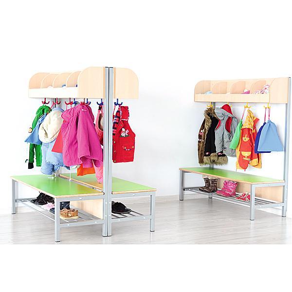 Kindergarten-Garderobe Flexi 4 mit Gestell - Fachbreite: 28 cm 7