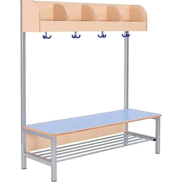 Kindergarten-Garderobe Flexi 4 mit Gestell - Fachbreite: 28 cm 3