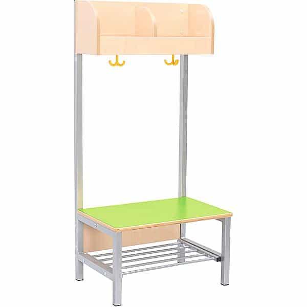 Kindergarten-Garderobe Flexi 4 mit Gestell - Fachbreite: 28 cm 4