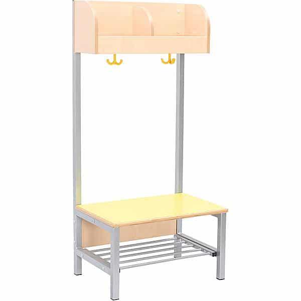 Kindergarten-Garderobe Flexi 4 mit Gestell - Fachbreite: 28 cm 9