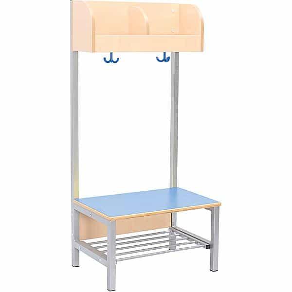 Kindergarten-Garderobe Flexi 4 mit Gestell - Fachbreite: 28 cm 2