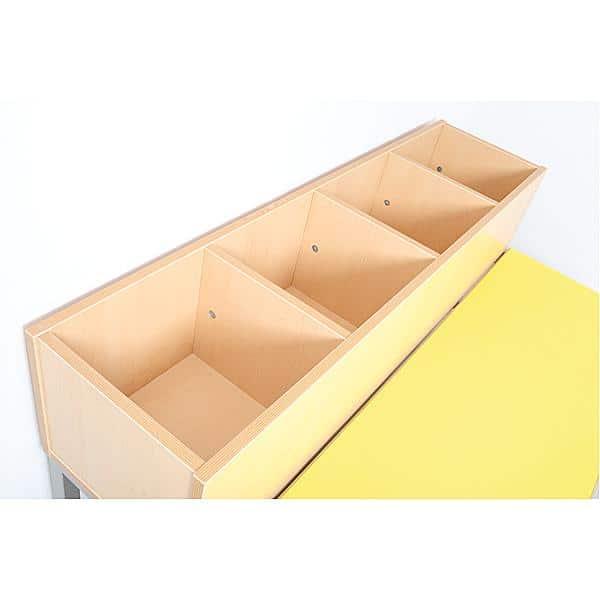 Bank mit Fächern Flexi 4 - Fachbreite: 28 cm 9