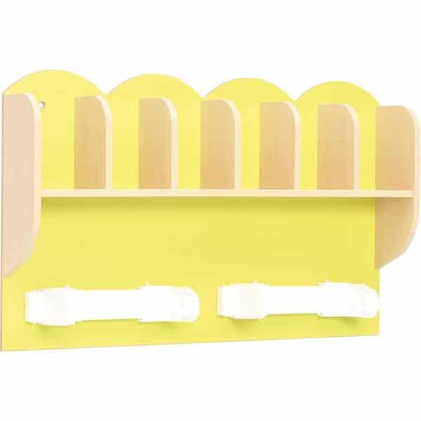 Kindergarten-Regal für Zahnputzbecher und Papierhandtücher 1