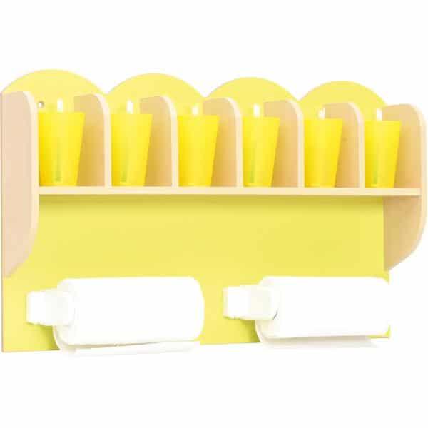 Kindergarten-Regal für Zahnputzbecher und Papierhandtücher 2