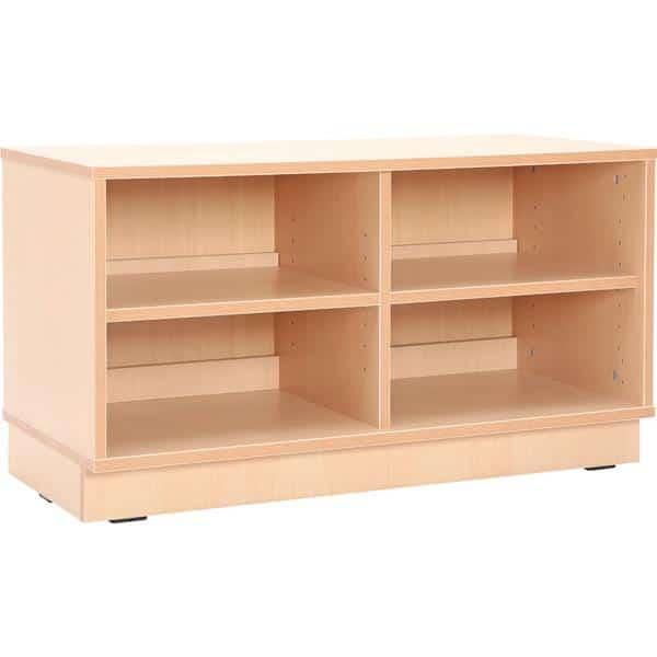 Kindergarten-Schrank S mit Trennwand und Einlegeböden - Breite: 89 cm 1