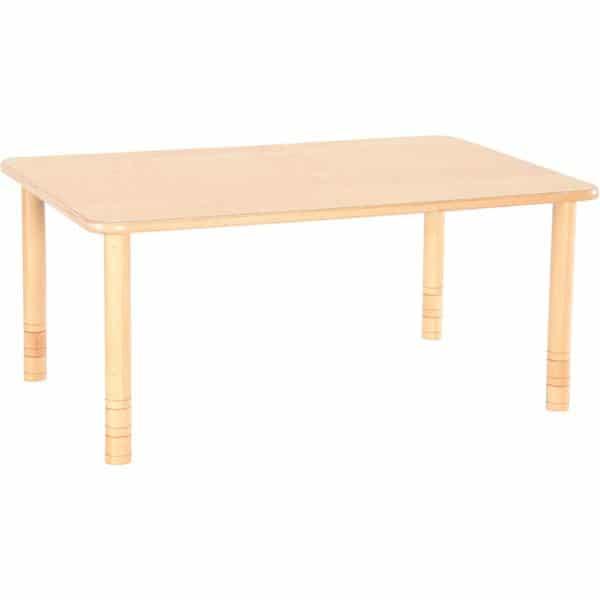 Kindergarten-Tisch Flexi (rechteckig) - höhenverstellbar 58-76 cm 2