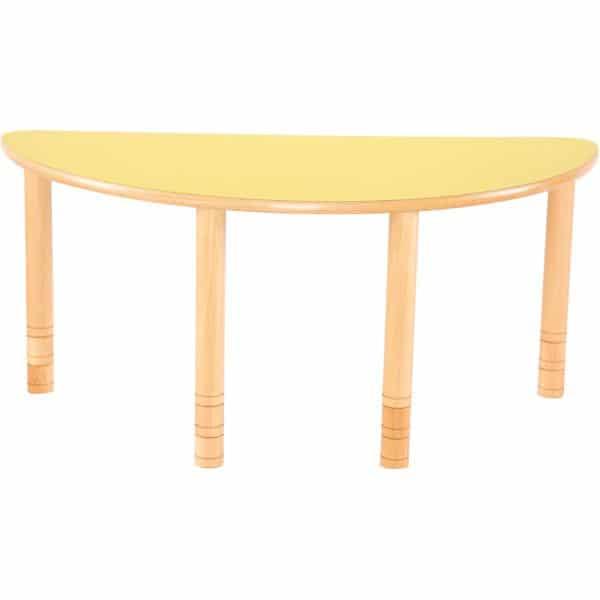 Kindergarten-Tisch Flexi (halbrund) - höhenverstellbar 58-76 cm 2