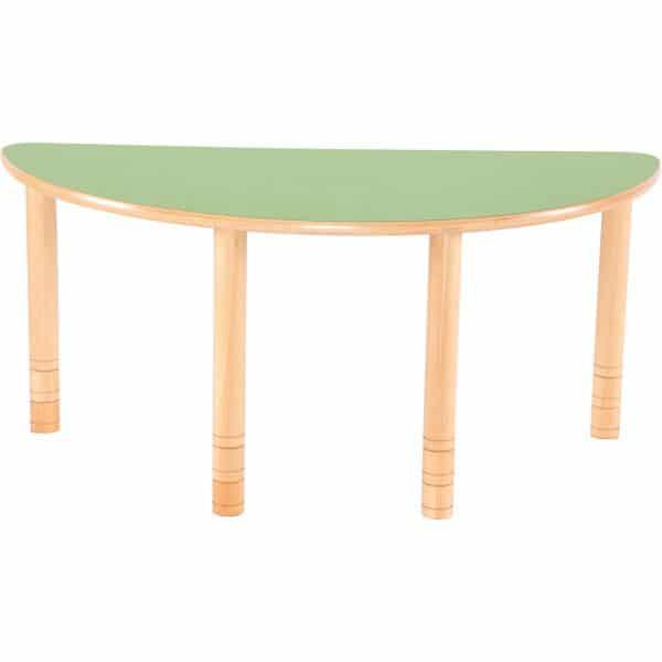 Kindergarten-Tisch Flexi (halbrund) - höhenverstellbar 58-76 cm 4