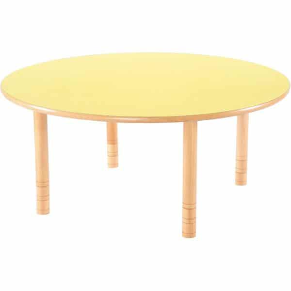 Kindergarten-Tisch Flexi (rund) - höhenverstellbar 40-58 cm 5