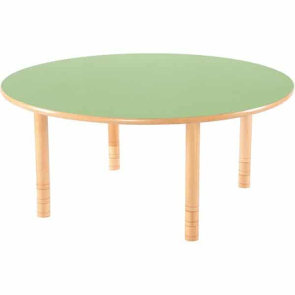 Kindergarten-Tisch Flexi (rund) - höhenverstellbar 40-58 cm 1