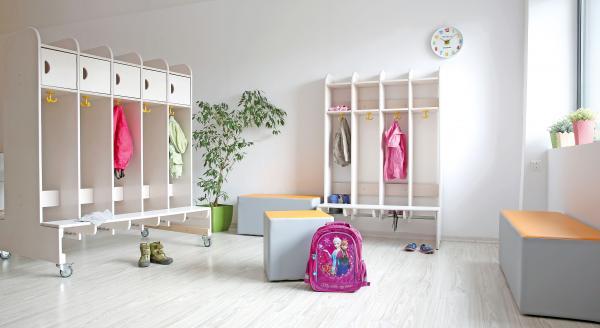 Kindergarten-Garderobe Elli 4 - feststehend 2