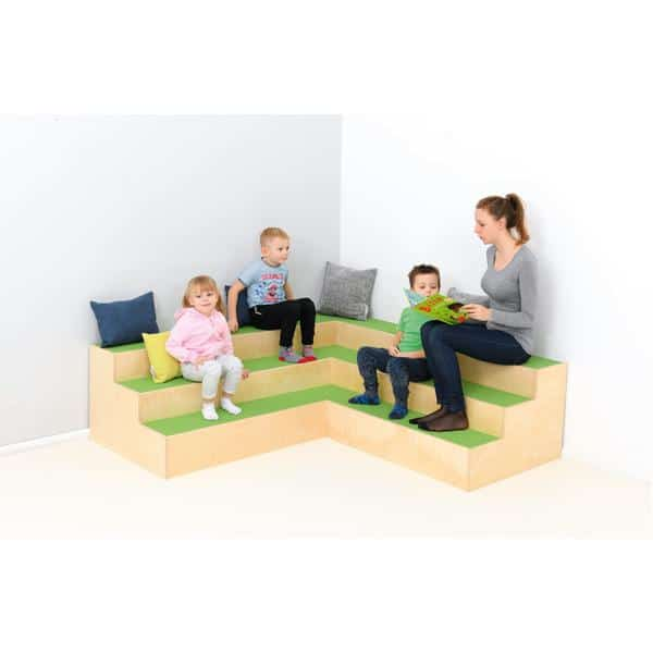Kindergarten-Stufenpodest - Eckpodest 2