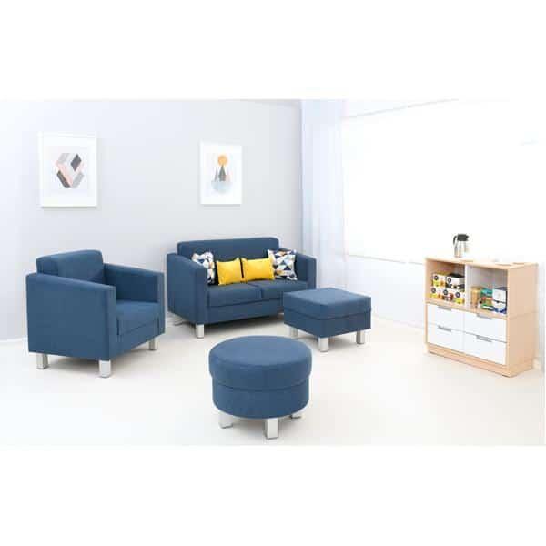 Kindergarten-Sitz Relax - quadratisch - blau 4