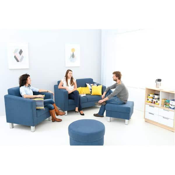 Kindergarten-Sitz Relax - quadratisch - blau 3