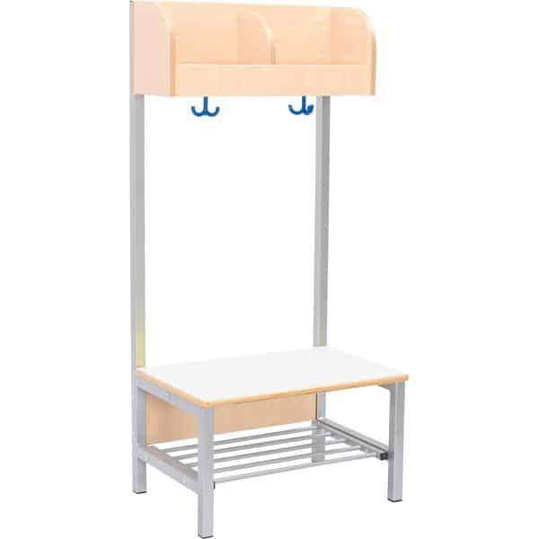 Kindergarten-Garderobe Flexi 2 mit Gestell - Fachbreite: 28 cm 2