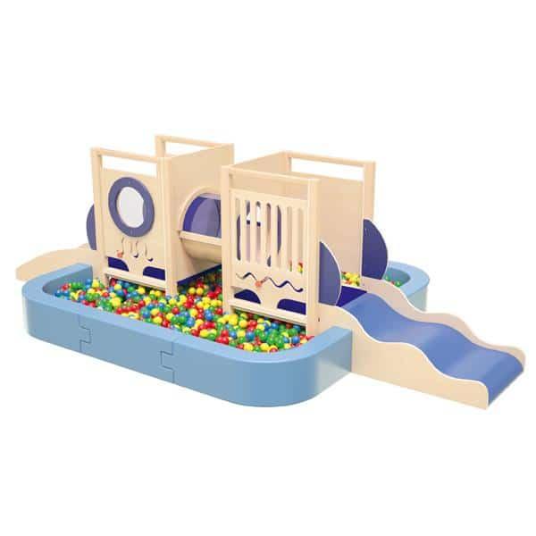Kindergarten-Spielecke U-Boot 5 - mit großem Bällebad 1