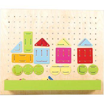 Austauschbare Wandplatte zum Spielhaus 099130 - Geometrisches Fädelspiel 4