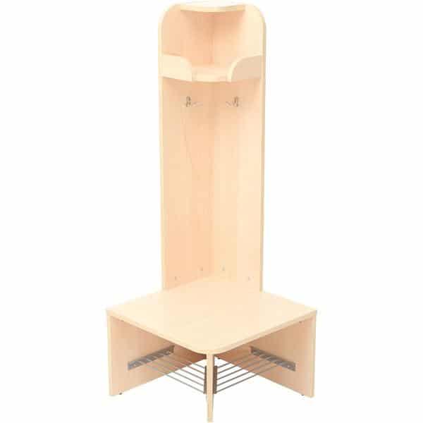 Eck-Abschluss Garderobe Schmetterling 2 - Sitzhöhe: 32,5 cm 1