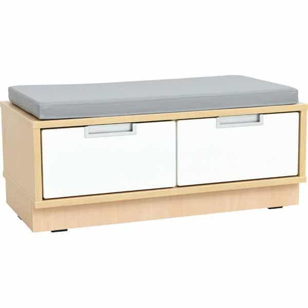 Quadro - Sitzbank mit Schubladen - Breite: 79 cm - mit grauer Matte 1