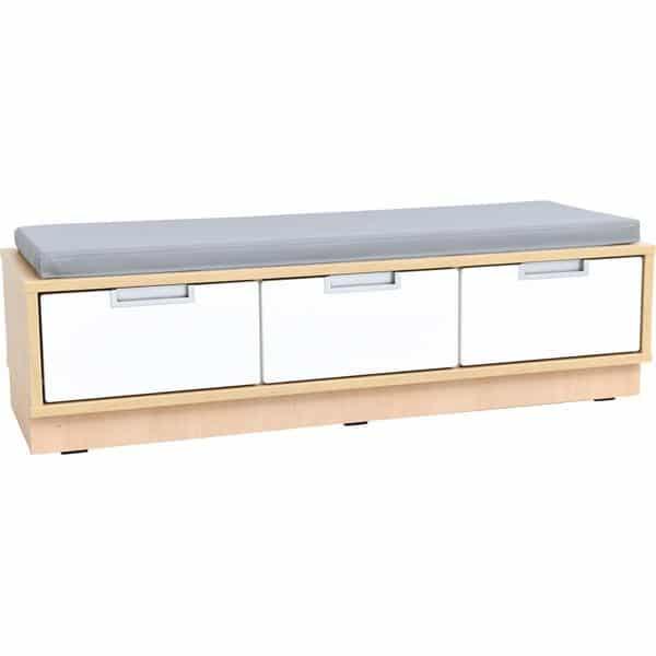 Quadro - Sitzbank mit Schubladen - Breite: 116 cm - mit grauer Matte 1