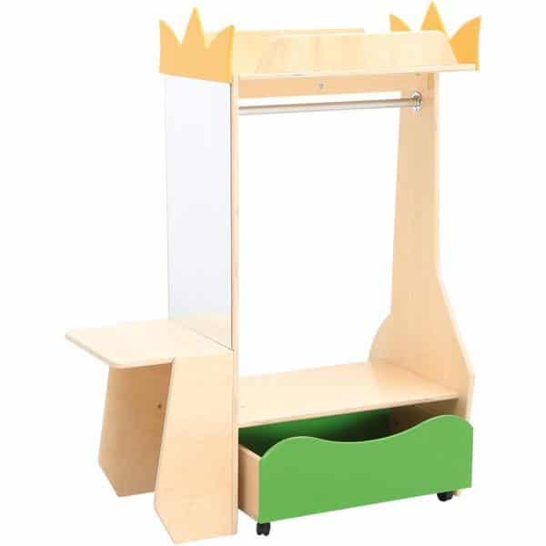 Kindergarten-Garderobe Flexi mit Seitenablage und Spiegel 1