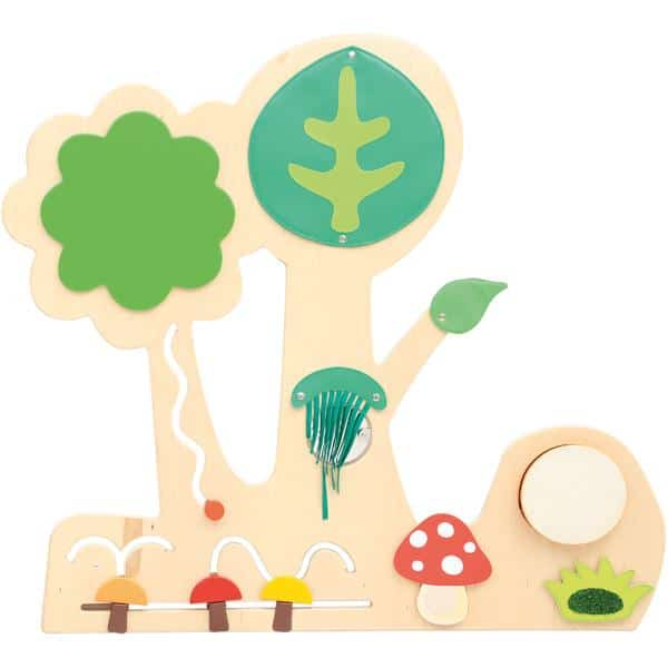 Sensorische Spielwand Wald 2 - mit Pilzen 1