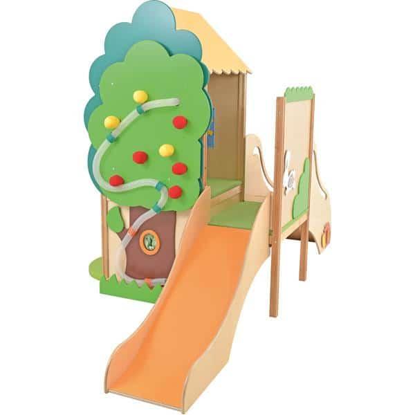 Kindergarten-Baumhaus mit Rutsche 1