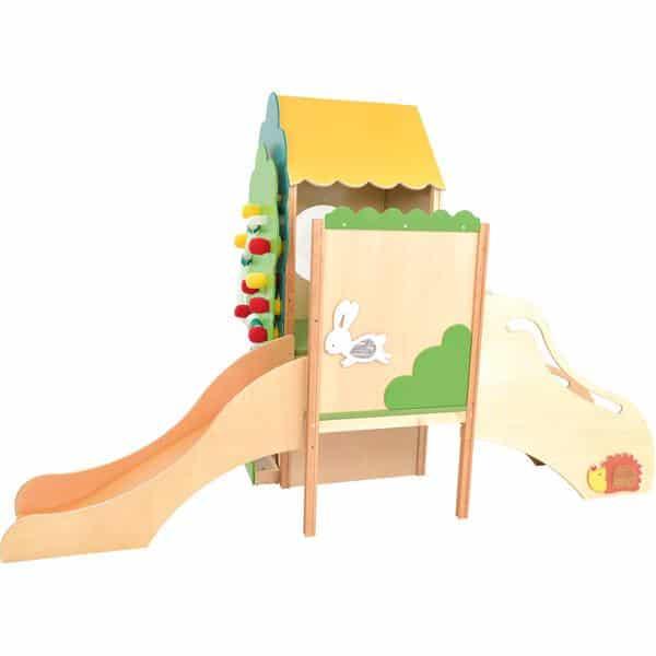 Kindergarten-Baumhaus mit Rutsche 3