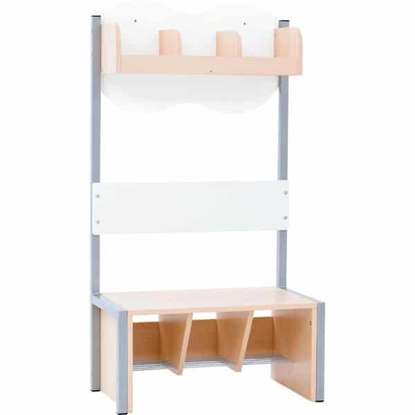Kindergarten-Garderobe Wolke 3 mit Gestell - Ahorn 5