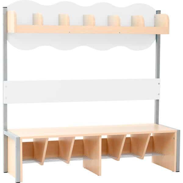 Kindergarten-Garderobe Wolke 6 mit Gestell - Ahorn 7