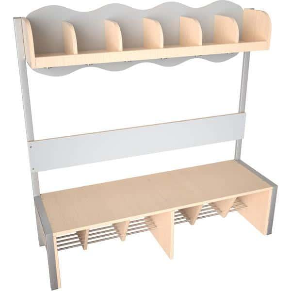 Kindergarten-Garderobe Wolke 6 mit Gestell - Ahorn 6