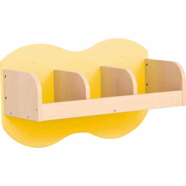 Kindergarten-Garderoben-Hängeregal Wolke 3 - Ahorn 3