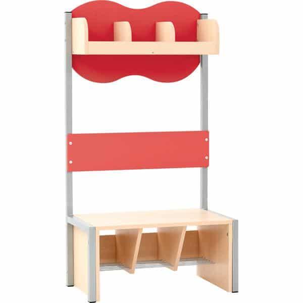 Kindergarten-Garderobe Wolke 3 mit Gestell - Ahorn 7