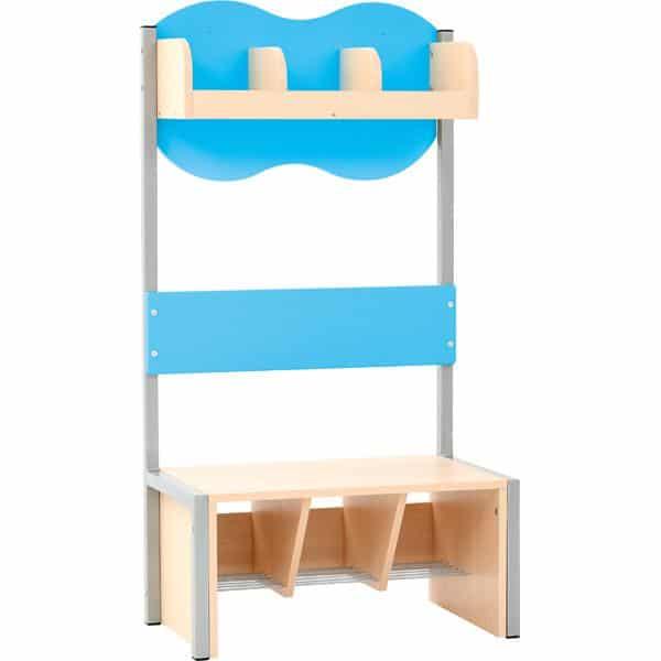 Kindergarten-Garderobe Wolke 3 mit Gestell - Ahorn 4