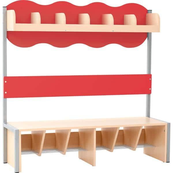 Kindergarten-Garderobe Wolke 6 mit Gestell - Ahorn 5