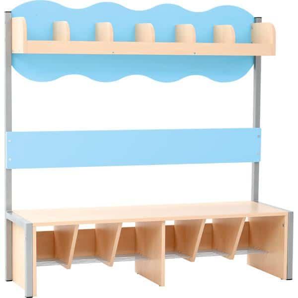 Kindergarten-Garderobe Wolke 6 mit Gestell - Ahorn 4