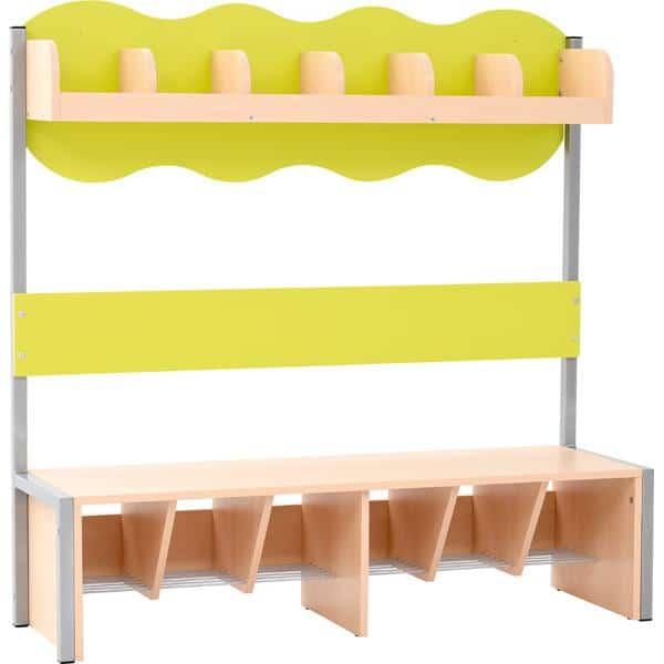 Kindergarten-Garderobe Wolke 6 mit Gestell - Ahorn 3