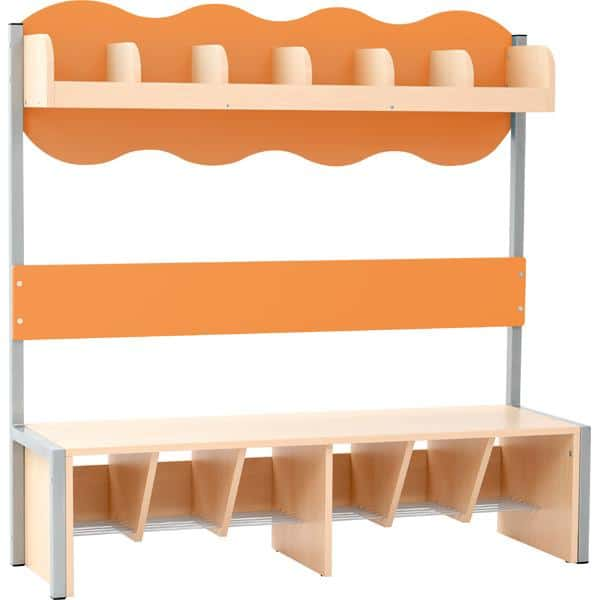 Kindergarten-Garderobe Wolke 6 mit Gestell - Ahorn 2