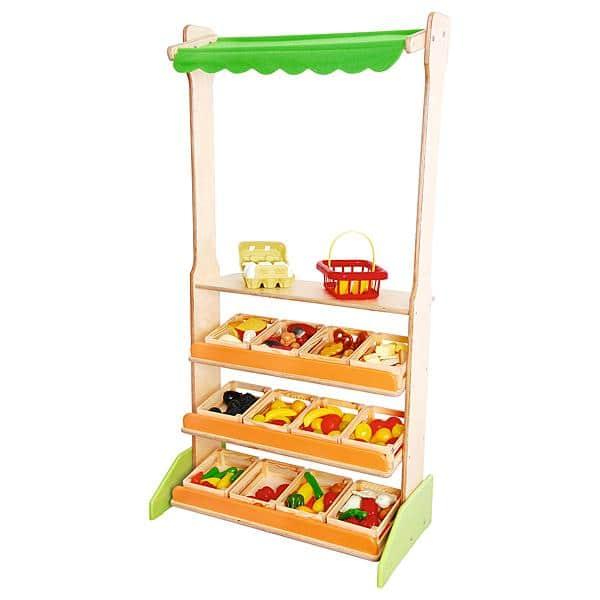 Kindergarten-Marktstand mit Kisten 1