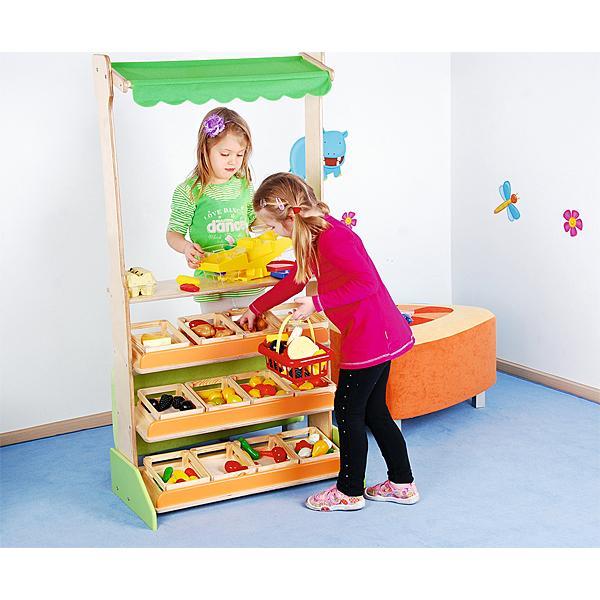 Kindergarten-Marktstand mit Kisten 2