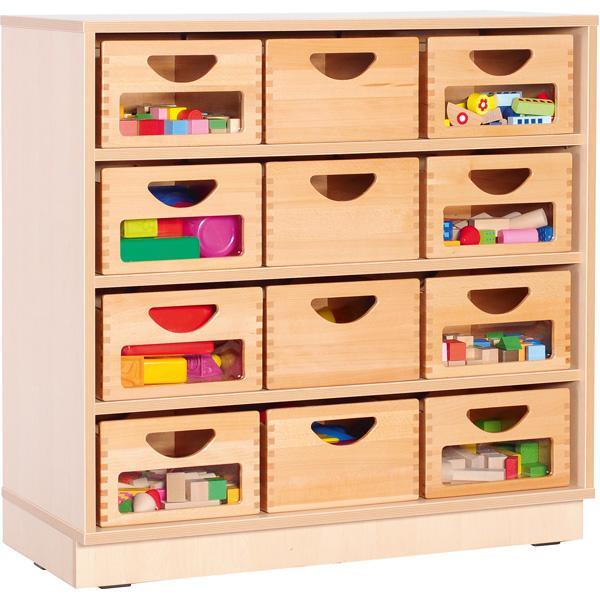 Kindergarten-Flexi Schrank M mit 3 Einlegeböden - Breite: 89 cm 5