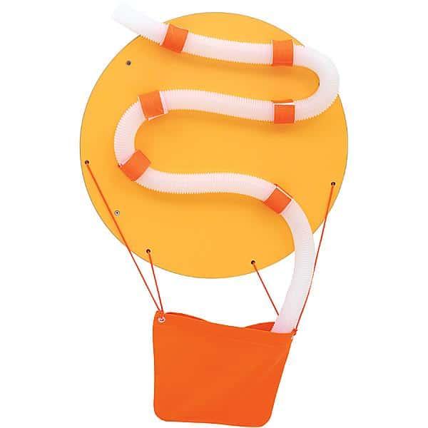 Wandapplikation mit Rohrpost - Heißluftballon 1