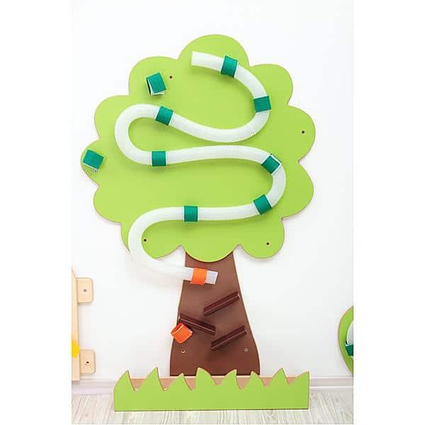Wandapplikation mit Rohrpost - Baum 1