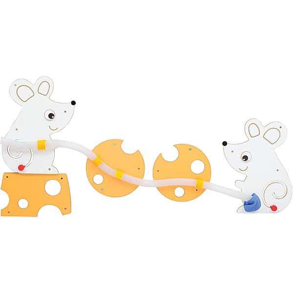 Wandapplikation mit Rohrpost - Spielende Mäuschen 1