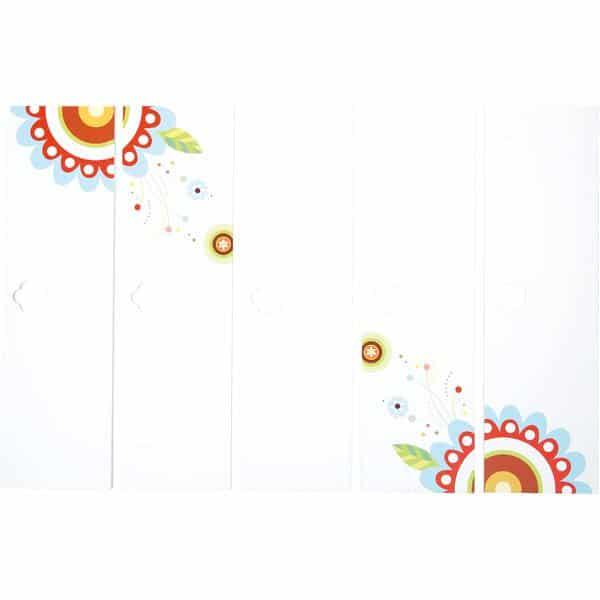 5-er Satz Garderobentüren Schmetterling - 2 Blumen 1