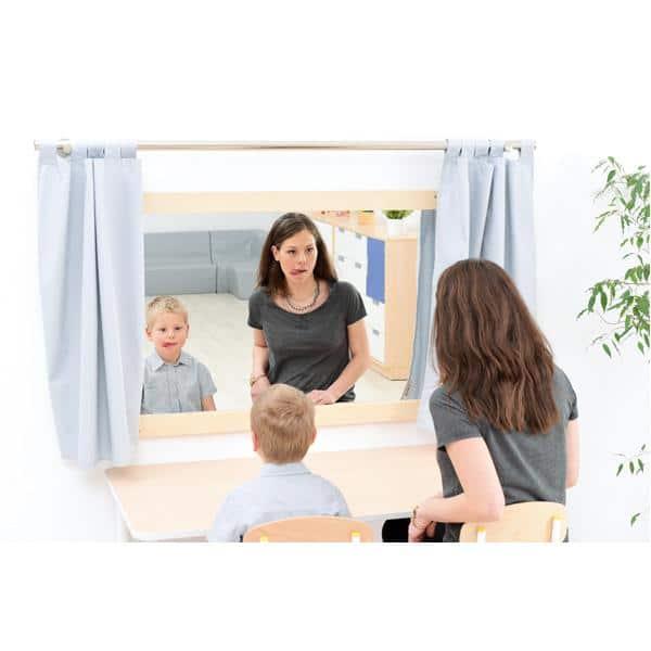 Vorhänge für Spiegel - quadratisch 2