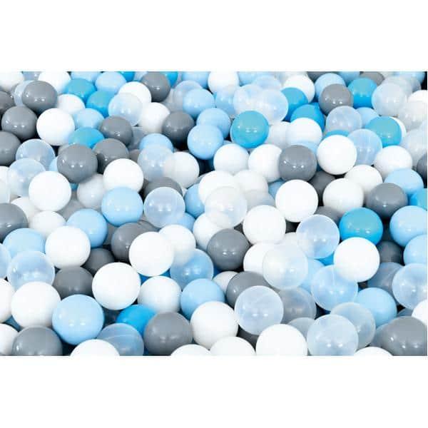 Bällebad quadratisch 2m - grau-hellblau - Höhe: 60 cm 3