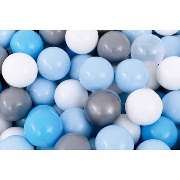 Bällebad quadratisch 2m - grau-hellblau - Höhe: 45 cm 3